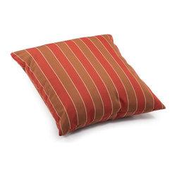ZUO - Joey Outdoor Pillow - Large - Add a pop of color to beige furniture with the Joey Pillow. Features wide clay and brown stripes. Water resistant for outdoor furniture. Comes in small or large.