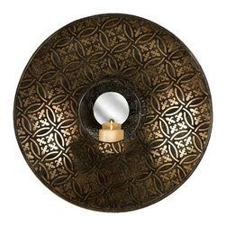 IMAX CORPORATION - Cocobolo Mirrored Wall Sconce - Melissa Vasquez designed Cocobolo mirrored wall sconce with patterned motif. Find home furnishings, decor, and accessories from Posh Urban Furnishings. Beautiful, stylish furniture and decor that will brighten your home instantly. Shop modern, traditional, vintage, and world designs.