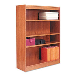 Alera - Alera BCS44836MO Square Corner Wood Veneer Bookcase - Medium Oak Multicolor - AL - Shop for Bookcases from Hayneedle.com! About AleraWith the goal of meeting the needs of all offices -- big or small casual or serious -- Alera offers an excellent line of furnishings that you'll love to see Monday through Friday. Alera is committed to quality innovative design precision styling and premium ergonomics ensuring consistent satisfaction.
