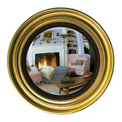 Hickory Manor House - 22.5 in. Dia. Maiden Convex Mirror in Antique - Vintage original. Custom made by artisans unfortunately no returns allowed. Enhance your decor with this graceful mirror. Made in the USA. Made of pecan shell resin. 22.5 in. Dia. (15 lbs.)