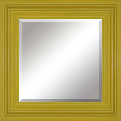 Paragon Decor - Lime Twist - Modern square mirror in green finish (mirror size 24h x 24w).