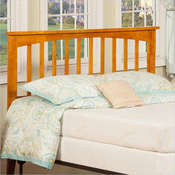 Atlantic Furniture - Atlantic Furniture Mission Twin Headboard in Caramel Latte-King Size - Atlantic Furniture - Headboards - R187857 - The simple yet elegant style of the Mission headboard will compliment any bedroom setting. The Traditional look and feel of the slats matched with generous crown molding make the Mission headboard a popular selection.