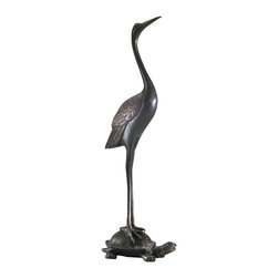 Cyan Design - Cyan Design 01220 Sculptural Crane & Turtle Door Stop - Cyan Design 01220 Sculptural Crane & Turtle Door Stop