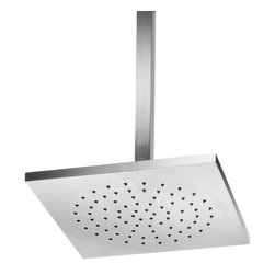 WS Bath Collections - Linea 53826 Self Cleaning Rain Shower Head in - Product Material: Polished Chromed Brass. Finish/Color: Polished Chrome. Made in Italy. Dimensions: 10.8 in. W x 10.8in. L