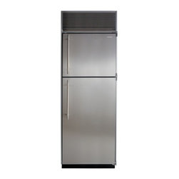 """Marvel - M30TFWSR 30"""" 19.4 Cu. ft. Built-in Top-Freezer Refrigerator with Automatic Defro - This popular model is available with an arctic white interior or gleaming stainless steel with tempered glass refrigerator shelves With an automatic ice maker formed metal door bins clear crispers for easy viewing and durable easy-to-clean freezer an..."""