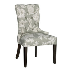Home Decorators Collection - Custom Tufted-Back Dining Chair - Whether to add plush comfort to your dining room furniture arrangement or to supplement the seating in any other space in your home, these lovely dining chairs offer a beautiful, classic design that you can customize with a wide variety of beautiful upholstery options. With sturdy frames, unrelenting style and soft, resilient cushions, you will enjoy the comfort and stunning appeal of these chairs for years to come. Quality crafted for years of lasting use. Choose either antique brass or shiny chrome nailhead accents. Made to order in the USA and delivered in approximately 8-10 weeks.