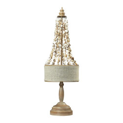 Dimond - Two Light Bleached Wood W/natural Shell Table Lamp - Two Light Bleached Wood W/natural Shell Table Lamp