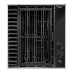 "Jenn-Air 20"" Electric Downdraft Cooktop, Black On Black | CVEX4100B - ENERGY SAVER GRILL ASSEMBLY"