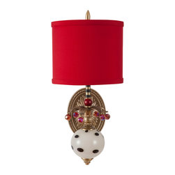 Harlequin Light - Harlequin Wallflower Sconce #1 - Sophisticated whimsy, and lively personality.
