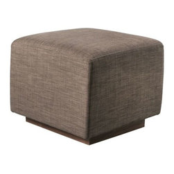 Gus Modern - Sparrow Ottoman by Gus Modern - As the accessory piece to the Sparrow Glider, the Gus Modern Sparrow Ottoman has the same clean lines and smooth functionality. Like the chair, it glides back and forth smoothly across a recessed wood platform base. The base's Wenge finish provides a lovely, deep complement to the fabric color. Mid-century modern design interpreted with an industrial edge. Such is the modis operandi of Gus* Modern. Every accessory, sofa, sectional, chair and table they design is inspired by simple forms and honest materials. The resulting modern furniture pieces are clean, elegant and versatile, with crisply tailored upholstery and solid, eco-friendly FSC-certified wood frames. Founded in 2000, Gus* Modern is based in Toronto, Ontario, Canada.