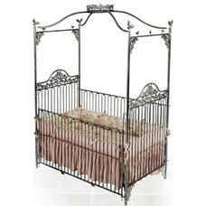 Eclectic Cribs Garden Jewel Iron Baby Crib