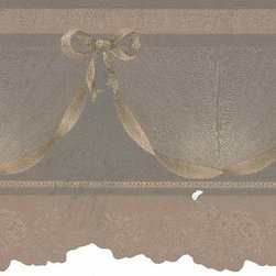 York Wallcoverings - Brown Spiral Hanging Wallpaper Border - Wallpaper borders bring color, character and detail to a room with exciting new look for your walls - easier and quicker then ever.