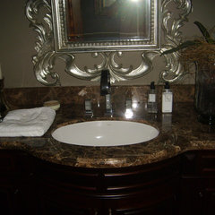 contemporary bathroom countertops by Lensley Interiors