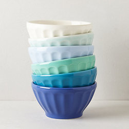 Latte Bowls, Blue - Ice cream would be right at home nestled in these ombré bowls.