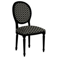 Louis XVI Oval Side Chair - Black chair - Walnut Chair - Hickory Chair, Pecan Ch
