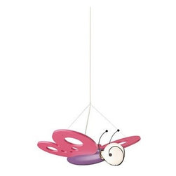 Philips Luminaire - Flutter Pendant Light - Delight your child with this pendant light with the vivid imitation of a monarch butterfly in flight. Light up their face as well as their rooms with a baby blue or pink decorative light, made from environmentally ethical and child safe mat