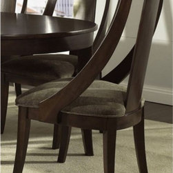 Somerton Dwelling - Somerton Dwelling Cirque Slipper Dining Chairs - Set of 2 Multicolor - SOMER340 - Shop for Dining Chairs from Hayneedle.com! With a stunning soft merlot finish the Somerton Dwelling Cirque Slipper Dining Chairs - Set of 2 are sure to turn some heads at your next soiree. This fine set of dining chairs is made to last from sturdy hardwood solids and veneers. Coming in a complementary chocolate taupe these chairs are upholstered in a lovely microsuede fabric.About Somerton DwellingFor over 20 years Somerton Dwelling has meant quality furniture and a quality company. Its warehouses and distribution centers located both in the United States and China provide environmentally friendly manufacturing locations as well as mindful employment spaces. Quality materials such as eco-friendly rubberwood solid wood and wood veneers are used to create Somerton Dwelling pieces ... and any Somerton Dwelling furnishing you choose will make a welcome stylish addition to your home.