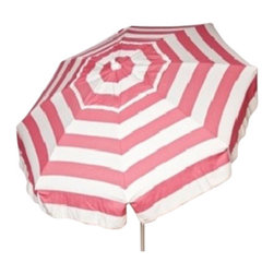 DestinationGear - Italian 6 ft Umbrella Acrylic Stripes, Pink and White, Beach Pole - Taking in the sun on the Amalfi coast is to some a dream come true.  In the case of the DestinationGear Italian Bistro style umbrellas, you'll feel like you are in Italy when you open up this 6 foot diameter shade provider.  Stylish, high-quality and designed for the patio, beach or camping outing.