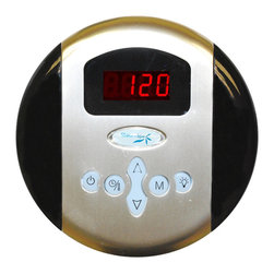 Spa World Corp - Steam Spa Programmable Control Panel with Time and Temperature, Chrome - The Steam Spa control panel is the primary input device for any Steam Spa steam generator. With its large LCD display and simple to use interface the control panel allows access to room temperature controls and time setting options for your generator. With its stylish design it will match with most any bathroom style or decor adding to the luxurious sauna atmosphere. Also available is our dual control system which allows for even more flexibility with installation setups and can allow for inside and outside control over the steam generator. Take control of your ideal sauna experience with this stylish control panel and create the steam sauna experience that�s perfect for you.