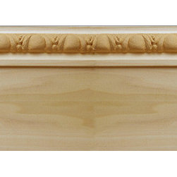 "Inviting Home - Boston Baseboard - Quality baseboard molding profile milled from kiln dried solid poplar wood. Boston baseboard has Egg-and-Dart design 5""H x 13/16""P x 8'00""L 4 piece minimum order required Decorative Poplar Baseboard molding specifications Outstanding quality crown molding profile milled from high grade kiln dried solid poplar hardwood. High relief ornamental design crafted using fine grade stainable composition material. Wood molding is sold unfinished and can be easily stained painted or glazed. The installation of the wood crown molding should be treated the same manner as you would treat any wood molding: all molding should be kept in a clean and dry environment away from excessive moisture. Acclimate wooden moldings for 5-7 days. When installing wood crown moldings it is recommended to nail molding securely to studs and glue all mitered corners for maximum support."