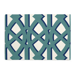 Teal Trellis Custom Placemat Set - #VALUE!