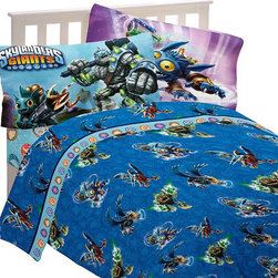 Franco Manufacturing Company INC - Skylanders Full Bed Sheet Set Energy Conquers Bedding - FEATURES: