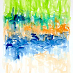 Victoria Kloch - Abstract Large Gouache Painting, 'Untitled 105', by Victoria Kloch - Untitled 105 - original large Gouache painting by Victoria Kloch