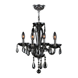 "Worldwide Lighting - Gatsby 4 Light Chrome Finish and Smoke Blown Glass Chandelier 16"" D x 18"" H Mini - This stunning 4-light Chandelier only uses the best quality material and workmanship ensuring a beautiful heirloom quality piece. Featuring a radiant chrome finish and blown glass in translucent smoke finish, this elegant chandelier is a work of art in its quality and beauty. Worldwide Lighting Corporation is a privately owned manufacturer of high quality crystal chandeliers, pendants, surface mounts, sconces and custom decorative lighting products for the residential, hospitality and commercial building markets. Our high quality crystals meet all standards of perfection, possessing lead oxide of 30% that is above industry standards and can be seen in prestigious homes, hotels, restaurants, casinos, and churches across the country. Our mission is to enhance your lighting needs with exceptional quality fixtures at a reasonable price."