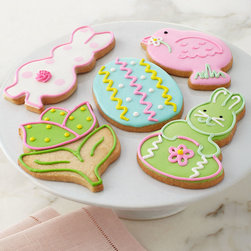 """Horchow - Five Decorated Easter Cookies - MULTI COLORS - Five Decorated Easter CookiesDetailsEXCLUSIVELY OURS.Easter cookies made by hand in small batches in a Midwest bakery.Buttery crisp cookies with melt-in-your-mouth icing.Set of five 4"""" cookies includes one of each design shown.Made in the USA.Perishable items are shipped to you directly from our vendors. Therefore if you need to cancel an order we must receive the cancellation at least four days prior to your requested delivery date. We added all garnishes as inspiration for your own presentations.Allergen Information: Contains dairy wheat and nuts."""