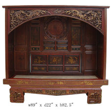Asian Love Seats by Golden Lotus Antiques