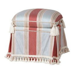 Jennifer Taylor Storage Vanity Stool - You can always tuck a few precious things away inside the Jennifer Taylor Storage Vanity Stool and you'll never forget where you left them when you get to enjoy this elegant storage piece. A hardwood frame is the base for the luxurious exterior of faux silk with its thick cushioned top faux-silk upholstery and fringe trim with rope details. Minor assembly of the feet are required. You'll be adding this beautiful companion to your space in no time. About ACG Green Group Inc.ACG Green Group is a home furnishing company based in Irvine California and is a proud industry partner with the American Society of Interior Designers. ACG Green features Jennifer Taylor and Sandy Wilson their exclusive home décor lines. These two complete collections offer designer home furniture bedding sets dining linens curtains pillows and more in classic silhouettes original designs and rich colors to complement your home and life.