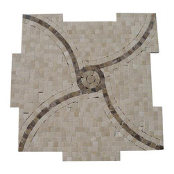 """Windmill Crema Marfil and Emperidor Marble Tile - Windmill Crema Marfil and Emperidor Marble Tile This hand-made micro marble mosaic was handlely single cut by hand and will provide endless design possibilities from contemporary to classic. It creates a great focal point to suit a variety of settings. Color: Crema Marfil and Dark Emperidor Material: Marble Finish: Polished Sold by the Sheet- each sheet measures 12""""x12"""" (1 sq.ft.) Thickness: 10mm Please note each lot will vary from the next."""