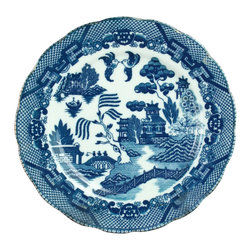 EuroLux Home - Vintage Transferware Blue Willow Plate - Product Details