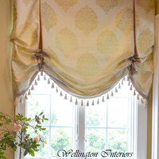 Traditional Roman Shades by Trish Albano Interiors