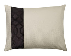 """Mystic Valley - Mystic Valley Traders Park Avenue - Queen Sham with Insert - The Park Avenue sham is fashioned from the Parquet Ecru fabric on each side, with a Deco border on front, and finished with a clean edge; sold with polyester microfiber insert; queen 20""""x30"""""""