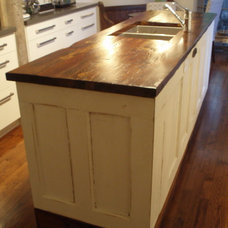 Eclectic Kitchen Islands And Kitchen Carts by She's Crafty