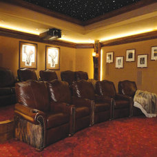 Home Theater by Ashley Campbell Interior Design