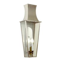 Francine M- Exterior Wall Lantern - Francine Medium Exterior Wall Lantern in Satin Stainless Finish