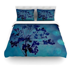 "Kess InHouse - Robin Dickinson ""Grapesiscle"" Cotton Duvet Cover (King, 104"" x 88"") - Rest in comfort among this artistically inclined cotton blend duvet cover. This duvet cover is as light as a feather! You will be sure to be the envy of all of your guests with this aesthetically pleasing duvet. We highly recommend washing this as many times as you like as this material will not fade or lose comfort. Cotton blended, this duvet cover is not only beautiful and artistic but can be used year round with a duvet insert! Add our cotton shams to make your bed complete and looking stylish and artistic! Pillowcases not included."