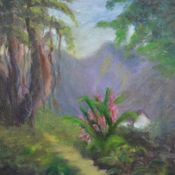 """The Little Banyan Tree"" (Original) By Kelly Turner - This Painting Was Done Behind The Wialoa Tea House In Manoa, On The Island Of Oahu."