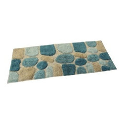 Chesapeake Pebbles Bath Rug Runner - Spun from 100% cotton, a plush, pebbled pattern gives the Chesapeake Pebbles Bath Rug Runner a spa feel that makes stepping out of the shower or just brushing your teeth seem like a profoundly relaxing experience. The latex back helps keep this rug from sliding around, and a full range of color options lets you match and complement your existing bathroom decor.About Chesapeake Merchandising, Inc.Dan Arora is a second-generation entrepreneur with a family background in quality textiles. He established Chesapeake Merchandising in 1995 to provide customers with sumptuous bath, accent, and area rugs, as well as luxurious table linens and bedspreads. Chesapeake has a liaison office in India with a team of professionals committed to finding quality, stylish textiles. This team keeps close watch on sourcing the finest raw materials, exercising control over dyeing and weaving, and completing the finishing stages to ensure there are no compromises when it comes to quality.