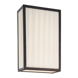 Sonneman 4502.25 Piega Satin Black Wall Sconce