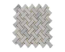 Filigree Asian Statuary Marble Tile - Are you looking for a spa-like atmosphere for your bath? This marble tile looks like it may have come from a statue in China. The intricate woven pieces will highlight all kinds of decor from contemporary to classic to traditional. Bring on the loofah!