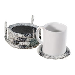 Stone County Ironworks - Whisper Creek Coaster Set (Natural Black) - Finish: Natural Black. Cup not included. Made frim iron. 4.5 in. L x 4.5 in. W x 3 in. H (7 lbs.)Set your morning coffee afloat in a sunbeam on a little birch raft.