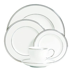 Lenox - Lenox Federal Platinum 5-piece Place Setting - Treat your loved ones to some gourmet home cooking with this elegant 5-piece place setting. This pretty plates are dishwasher-safe,leaving you free to focus on chatting with your friends or family members. A teacup is included for after-dinner coffee.