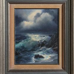 Rosemary Miner, Carmel Moonlight, Oil Painting - Artist:  Rosemary Miner