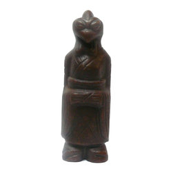 """Golden Lotus - Chinese Color Stone Carved Artistic Figure Display - Dimensions:   w4"""" x d4"""" x h12.5"""""""