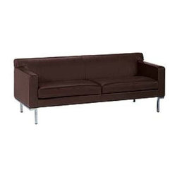 SOLD OUT!  DWR Leather Theatre Sofa (Chocolate Brown) - $4,400 Est. Retail - $1, -