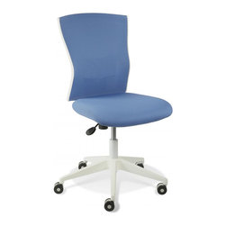 Jesper Office Furniture - Sanne Blue Armless Office Chair - Features: