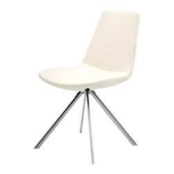 B&T Design - Pera Ellipse Chair, Gazebo Eco-Leather Ivory - 151 - Pera Ellipse Chair